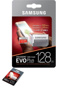 Samsung Micro SD Samsung Evo 128GB micro SD card with SD card adapter